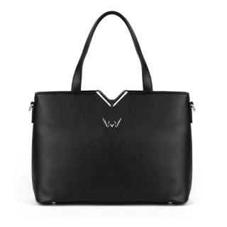 Dámska kabelka VUCH Zoya dámské čierna | tmavočervená | ružová One size