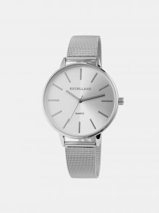 Dámske hodinky s nerezovým remienkom v striebornej farbe Excellanc dámské strieborná