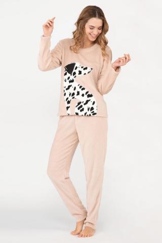Dámske hrejivé pyžamo Dalmatine dámské béžová L