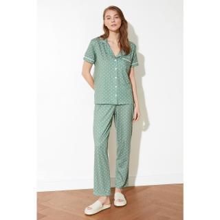Dámske pyžamo Trendyol Polka Dot dámské Green S