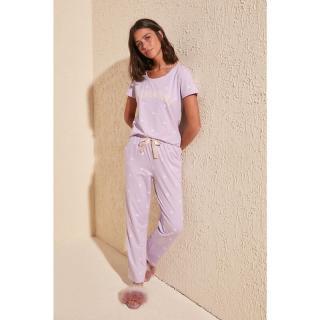 Dámske pyžamo Trendyol Polka Dot dámské Lilac S
