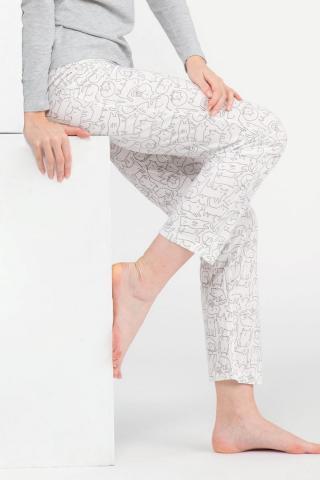 Dámske pyžamové nohavice Poppy dámské biela L