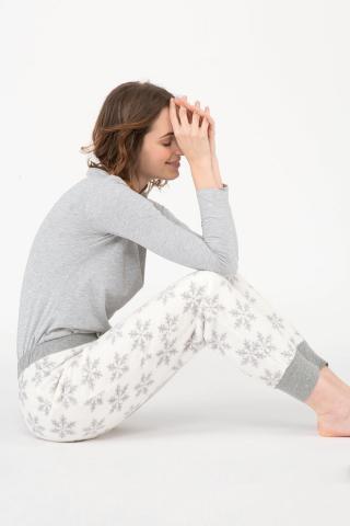 Dámske pyžamové nohavice Snow dámské biela L
