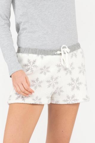 Dámske pyžamové šortky Winter dámské biela L