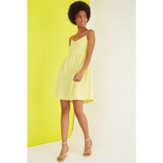 Dámske šaty Trendyol Basic dámské Yellow 40