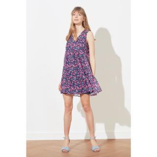 Dámske šaty Trendyol Floral Patterned dámské Purple 34