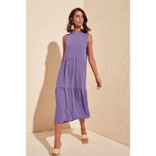 Dámske šaty Trendyol Midi dámské Purple 42
