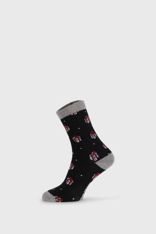 Dámske vianočné ponožky Gift dámské ČIERNA 36-40