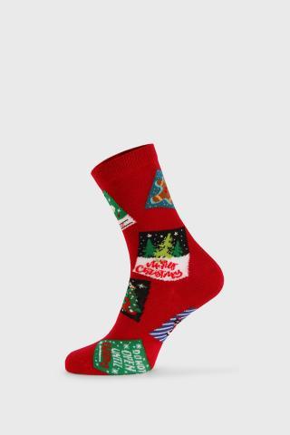 Dámske vianočné ponožky Posty dámské červená 36-40