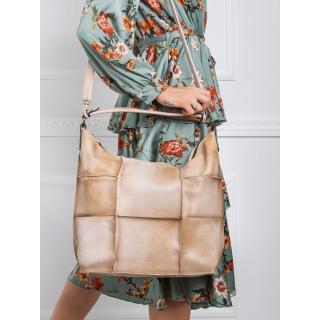 Dark beige patchwork bag dámské Other One size
