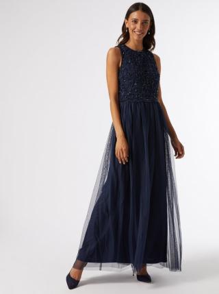 Dark blue maxi dress with seed top Dorothy Perkins dámské Tmavě modrá XS