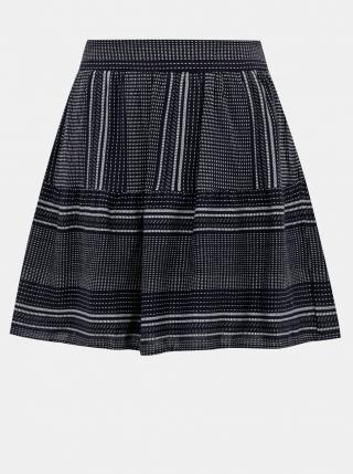 Dark blue patterned skirt VERO MODA dámské Tmavě modrá L