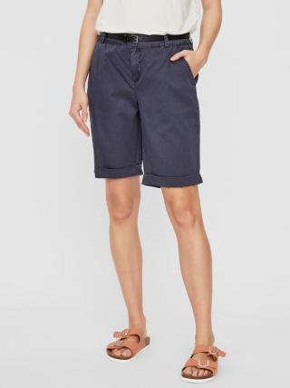 Dark Blue Shorts VERO MODA Flash dámské Tmavě modrá XL