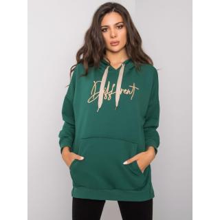 Dark green cotton hoodie dámské Other One size