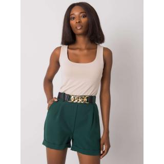 Dark green shorts with a decorative belt dámské Other S