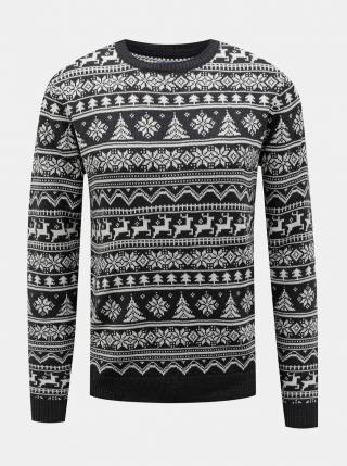 Dark grey sweater with Christmas pattern Blend pánské tmavě šedá S