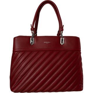 David Jones Dámska kabelka CM6215 Dark Red dámské červená