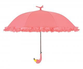 Dáždnik Flamingo With Ruffles Ružová