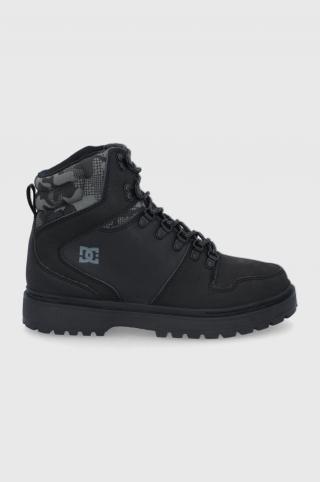 Dc - Kožené členkové topánky pánské čierna 45