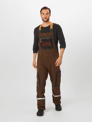 DC Shoes Outdoorové nohavice REVIVAL  kaki / čierna / oranžová pánské S