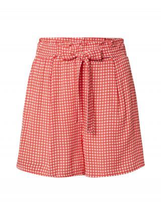 DeFacto Plisované nohavice  červená / biela dámské 36