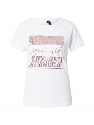 DeFacto Tričko  biela / ružové zlato dámské S