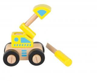 Demontovateľné autíčko Excavator Pestrofarebná