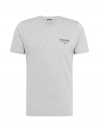 DENHAM Tričko ADAMS  sivá / antracitová pánské XL