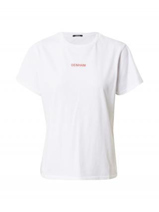 DENHAM Tričko CAMELLIA  biela / petrolejová / tmavohnedá / svetločervená / tmavočervená dámské S