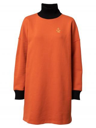 Derbe Šaty  čierna / oranžová dámské 36