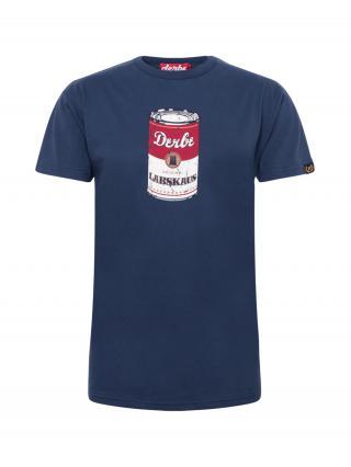 Derbe Tričko  biela / červená / námornícka modrá pánské M
