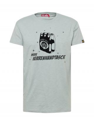 Derbe Tričko Herrenhandtasche  striebornosivá / čierna pánské S