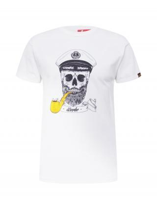 Derbe Tričko Spooky  biela / žltá / čierna pánské S