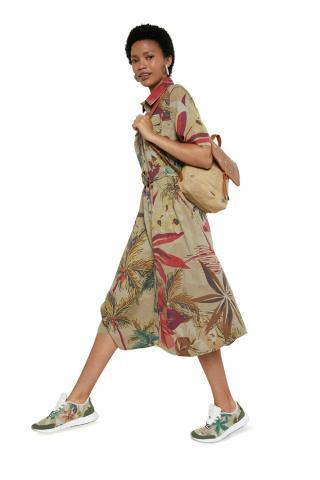 Desigual béžové košeľové šaty - 34 dámské béžová 34