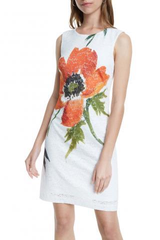 Desigual biele šaty Vest Eyre - 34 dámské biela 34