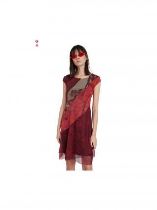 Desigual červené šaty Vest Houston dámské červená XXL