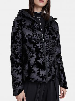 Desigual čierna bunda Padded Velur dámské M