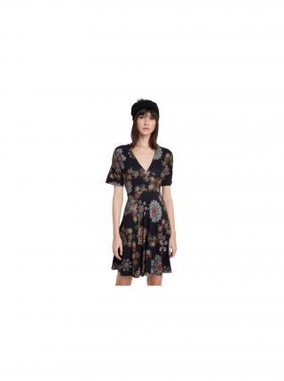 Desigual čierne šaty Vest Gogo s mandalami dámské čierna XL