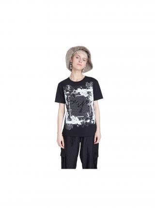 Desigual čierne tričko TS Arizona dámské čierna XL