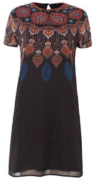 Desigual Dámske šaty Vest Mexican Negro 19WWVW42 2000 40 dámské
