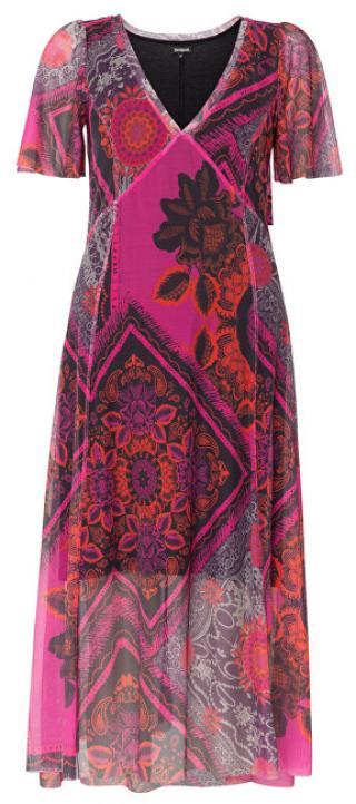 Desigual Dámske šaty Vest Terry Rosa Primula 19WWVK56 3063 S dámské