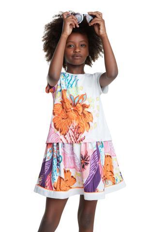 Desigual farebné dievčenské šaty Vest Guadalupe - 3/4 farebná 3/4