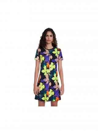 Desigual farebné šaty Vest Autumn dámské fialová L