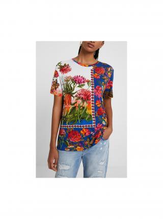 Desigual farebné tričko TS Parson dámské fialová S