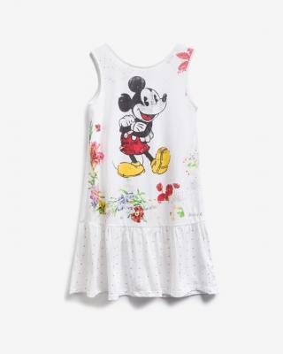 Desigual Mickey Mouse Šaty dětské Biela dámské 7-8 rokov