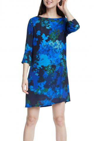 Desigual modré šaty Vest Tennessee - 36 dámské modrá 36