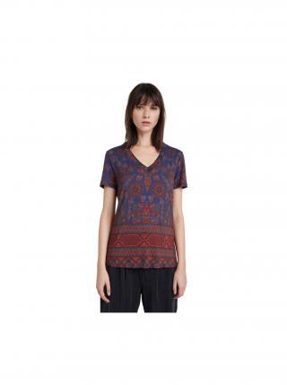 Desigual modré tričko TS Benin dámské modrá S