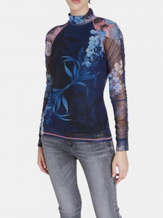 Desigual modré tričko TS Vanessa dámské modrá XS