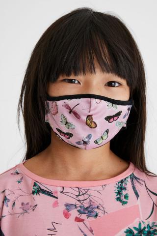 Desigual obojstranná detská rúška Mask Kids Mariposa čierna