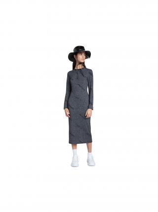 Desigual sivé midi šaty Vest Angie dámské sivá M